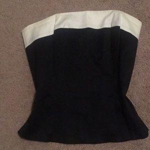Classic strapless corset top